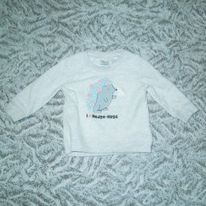 Pullover I Love Hedge-Hugs Sweater Size 9-12Months